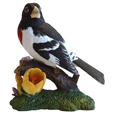 Rose Breasted Grosbeak  ~ Lenox Garden Bird Sculpture 1991