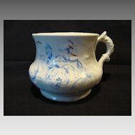 Nice English Shaving Mug ~ Blue Peonies Flowers ~ W.H. GRINDLEY & CO., Ltd. (Staffordshire, UK) - ca 1891 - 1914