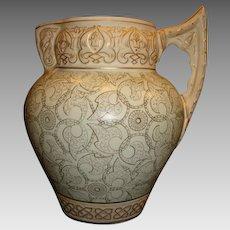 Superb Aesthetic Calvertine Ware Pitcher ~ Castilian ~ Unmarked DF Haynes BALT Chesapeake Pottery Baltimore MD 1900-1914
