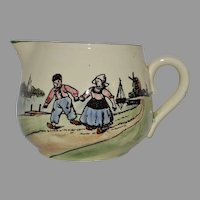 Adorable German Earthenware Creamer with Hand Painted Dutch Children  ~ ZELL UNITED CERAMIC FACTORIES - GEORG SCHMIDER (Germany) - ca 1907 – 1928
