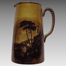 Outstanding English Pitcher with Ship Scenes ~ Royal Vista ~ Ridgways 1880-1900