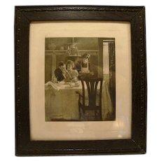 1906 Engraving by Geo W Barratt ~ Their First Breakfast ~ Life Publishing Co