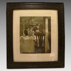 1906 Engraving by Geo W Barratt ~ Their First Breakfast ~ Life Publishing Co