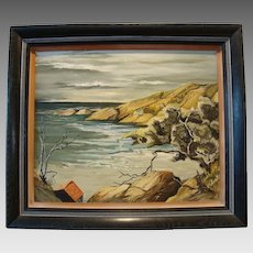 Beautiful Original California Coastal Painting ~ Oil on Board ~ by Wanda Rhoades 1953