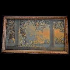 Maxfield Parrish ~ 1923 Daybreak  ~Original Lithograph  Framed Print