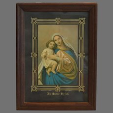 Virgin Mary and Jesus Print ~ 1835-1853  ~ Die Mutter Christi  ~128 ~ Publishers Brothers Charles & Nicolaus Benziger in Einsiedeln Switzerland