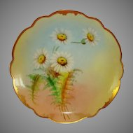 "Wonderful Bavarian Porcelain Cabinet Plate ~ signed by Pickard Artist  ""GP Leach"" ~ Rosenthal Bavaria/ Pickard Studios Chicago IL 1905-10"