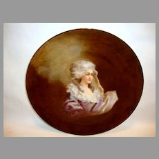 Lovely Limoges Porcelain Portrait Plate of  Marie Antoinette ~ Hand Painted ~ Haviland Limoges France