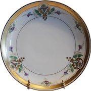 "50% OFF!  Art Nouveau  Purple Morning Glory  Plate 8 1/2"" – Pickard Studio Chicago IL 1912-1918"