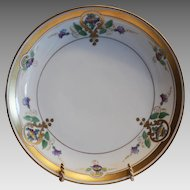 "50% OFF!  Art Nouveau  Purple Morning Glory  Plate 8 1/2"" – Pickard Studio Chicago IL 1912-1918"