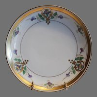 "Art Nouveau  Purple Morning Glory  Plate 8 1/2"" – Pickard Studio Chicago IL 1912-1918"
