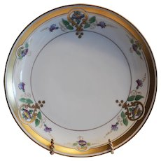 "Art Nouveau  Purple Morning Glory  Plate 8 1/2"" – Pickard Studio Chicago IL 1912-1918"