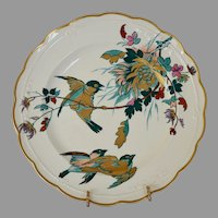 Fantastic English Earthenware ~ Hand painted with Birds ~ 1800's