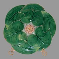 PLT1477: Majolica Plate ~  Lily Pond Design ~ George Jones England 1861-1873
