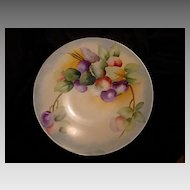 50% OFF! Beautiful Limoges Porcelain Plate Hand Painted with Purple and Green Plums – Jean Pouyat -1890-1932
