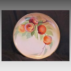 50% OFF!    Limoges Porcelain Cabinet Plate ~ Hand Painted with Ripe Peaches ~ Signed  T. Luc ~ Union Ceramics / Flambeau China 1900's-1914