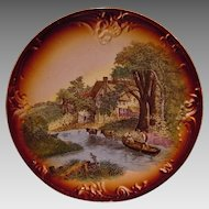 50% OFF! Scenic German Wall Plaque ~ By Franz Anton Mehlem 1836-1920