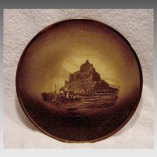 "Beautiful English Wall Plaque /Plate ""Mount  St. Michael ~ Royal Vista"" ~ Ridgways 1880-1900"