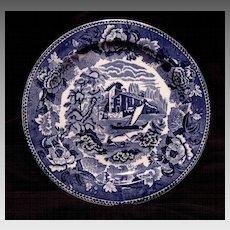 "Gorgeous English ~ Blue & White Scenic Earthenware Plate~ ""Landscape"" Pattern ~ Wedgwood England 1891-1902"