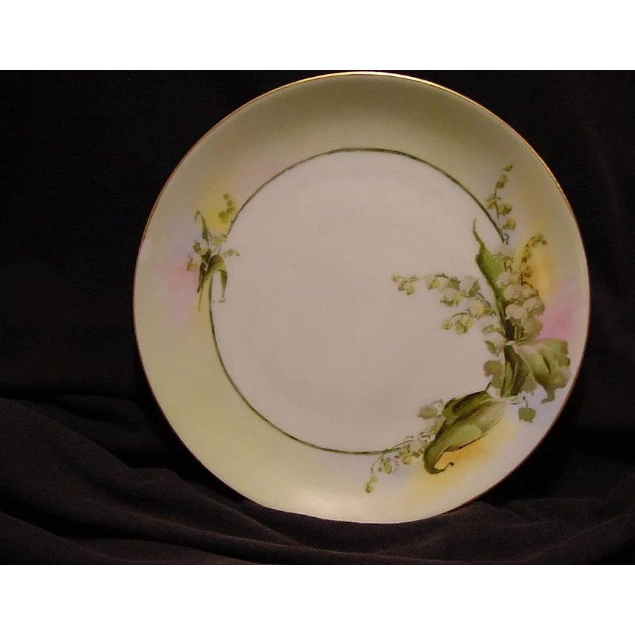 Beautiful Bavarian Porcelain Plate Caines Studio