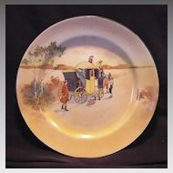 """ Hard to Find""  Royal Doulton's Coaching Days Series Plate~  D2716 Scene #4~ """"Innkeeper Talking to Drivers, Attendants Boarding.""  ~ Royal Doulton England 1906"