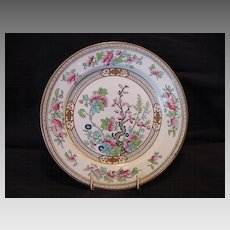 """Hard to Find"" English Plate ~  Dresden Pattern (Indian Tree) D2920 ~ By Doulton & Co Staffordshire England 1891-1902"