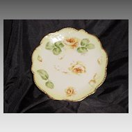50% OFF! Limoges Plates Hand Painted, Signed Yellow  Roses – Latrille Freres ca 1908-1913