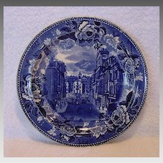 Commemorative Plate Old State House in Boston, 1888 ~ Wedgwood  1895