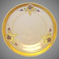 "Pickard Studio Hand Painted Art Nouveau Purple Morning Glory Design Porcelain Plate 6 ¾"" – 1912-1918"