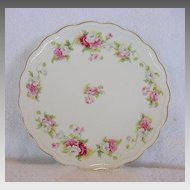 50% OFF!  Nice Limoges Porcelain Cabinet Plate Studio Decorated with White,Pink & Red Poppies ~ A LANTERNIER 1891-1914