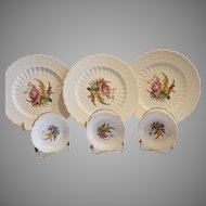 3 Plates & 4 Butter Pats ~ Heath & Rose ~ Spode Jewel by Copeland Spode patented 1926