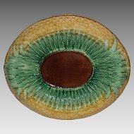 Wonderful Majolica Bread Plate / Platter ~ Pineapple Design ~ attributed to Adams & Bromley Staffordshire England 1873-1886