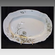 """English Platter ~ 16"""" Design of Poppies with Gold  ~ John Edwards England 1891"""