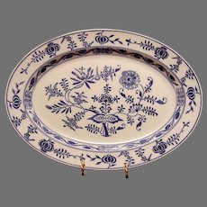 "Gorgeous Platter~15 1/2"" ~ Blue Onion Pattern by VILLEROY & BOCH (Dresden, Germany) - ca 1874 - 1920s"