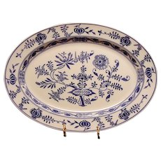 "Gorgeous Platter~15 1/2"" ~ Blue Onion Pattern by VILLEROY & BOCH (Dresden, Germany) - ca 1874 - 1920s"