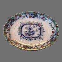 "Colorful PLATTER ~ 14 5/8"" ~English Earthenware / Ironstone ~ Asian Design ~ Ashworth England 1862-1890"
