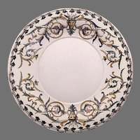 """Platter or Chop Plate~ 12"""" French Faience / Majolica RENAISSANCE ~ Gien France1871-1875"""