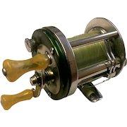 "Vintage Shakespeare baitcasting fishing reel. Marhoff model 1964, ""GE"".  Made in 1946."
