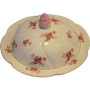 Shelley Bone China Muffin Holder Dish / Butter Dish ~ Rose Spray / Bridal Rose Pattern 13545~ Dainty Shape ~ Shelley England 1940-1966