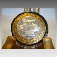Casino gaming token, .999 fine silver. 1994 Flamingo Hotel