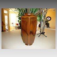 Wonderful Nippon 6 Sided Arts & Craft Style ~ Dripped Brown Glaze ~ Nippon