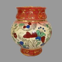"Colorful Faience / Earthenware ~ 5"" Vase  Haynes Balt Ware ~ Art Nouveau Pattern ca.1900 -1914 ~ DF Haynes (Chesapeake Pottery)"