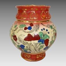 "Colorful Faience / Earthenware ~ 5"" Vase  Haynes Balt Ware ~ Art Nouveau Pattern ca.1900 -1914 ~ DF Haynes (Chesapeake Pottery)"