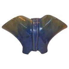 Chinese Blue Fulper Buckle Vase ~ Hard to Find ~ Mold T37 ~ Fulper Pottery, Flemington, NJ  1899-1929