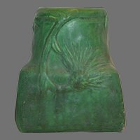 Great Owens Pottery Matte Green with Thistle Leaves and Flowers ~Owens Pottery Zaneville OH 1896-1907