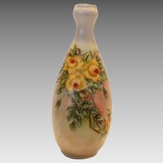 Adorable Bud Vase ~ Hand Painted with Yellow Roses ~  Oscar & Edgar Gutherz  Austria 1889-1918