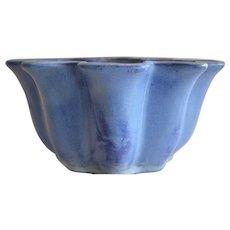 """Nice Ruffled Rim Vase ~ Chinese Blue Flambé ~ #4055 11""""~ Fulper Pottery Co  Flemington, NJ 1899-1929"""