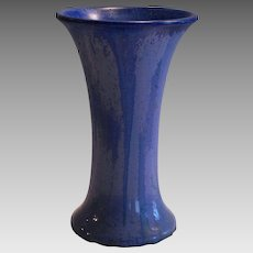 "Flaring Vase 9"" ~ Fulper Art Pottery Chinese Blue Flambe Crystalline ~ Form #26 - Flemington, NJ 1899-1929"