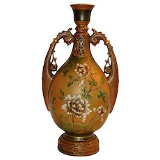 Art Nouveau Amphora Porcelain Vase ~ Ernst Wahliss Turn Wein Austria early 1900's