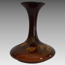 Rookwood Vase ~ Dark Brown with Yellow Flowers ~ Ed Diers ~Cincinnati, Ohio 1910